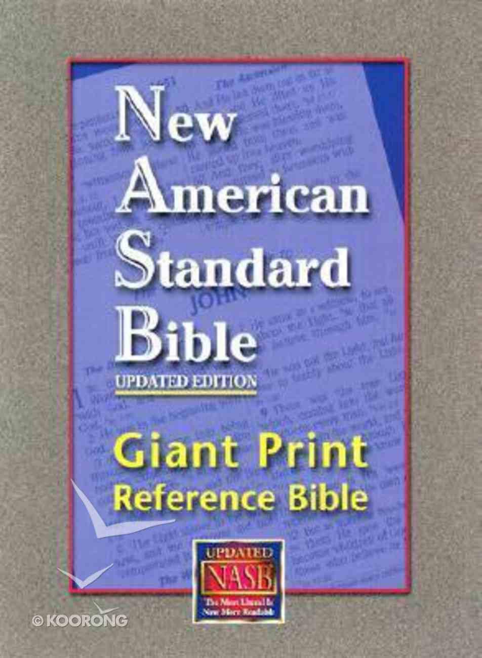NASB Giant Print Reference Bible Burgundy Genuine Leather