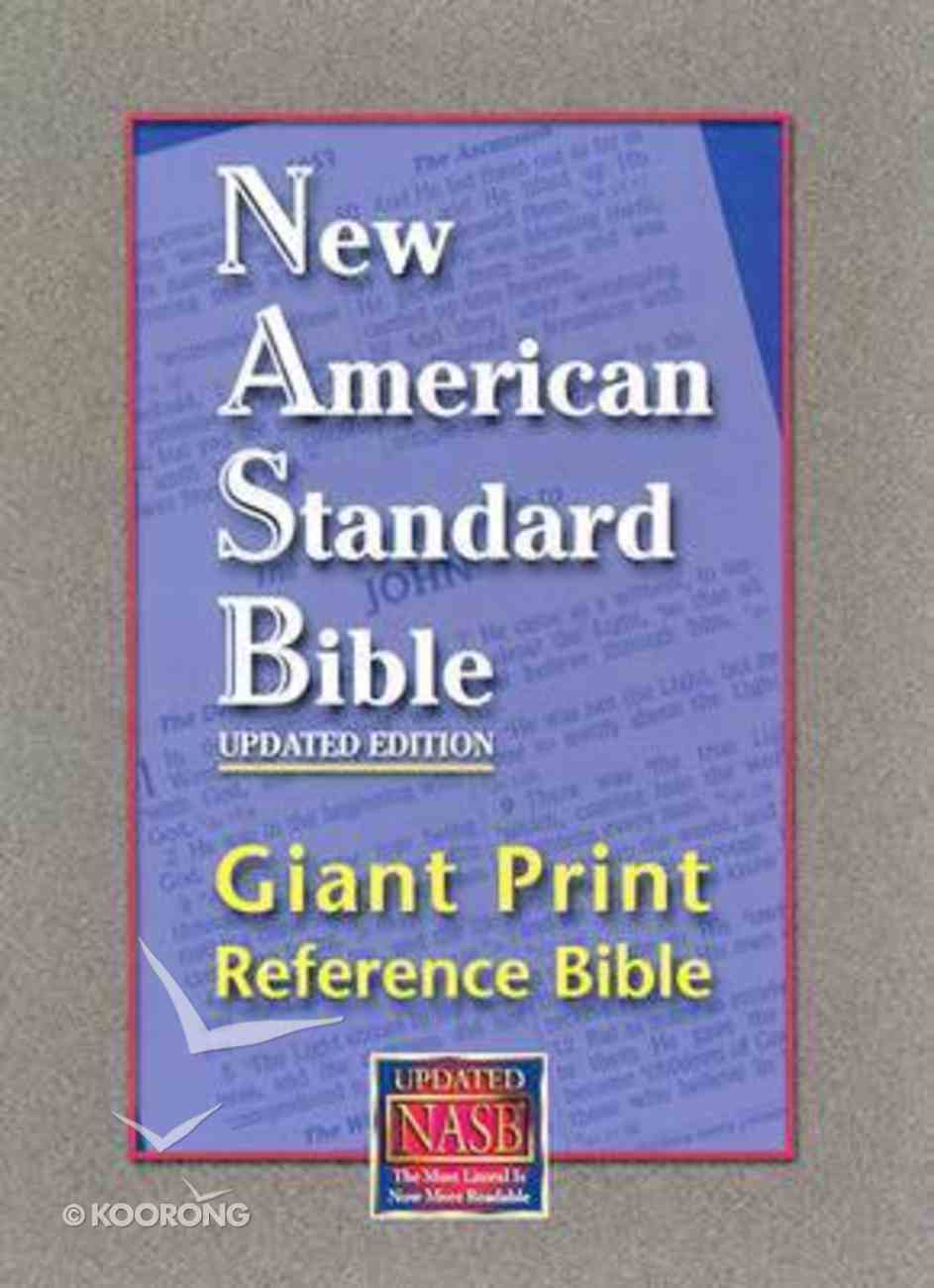 NASB Giant Print Reference Bible Indexed Burgundy Genuine Leather