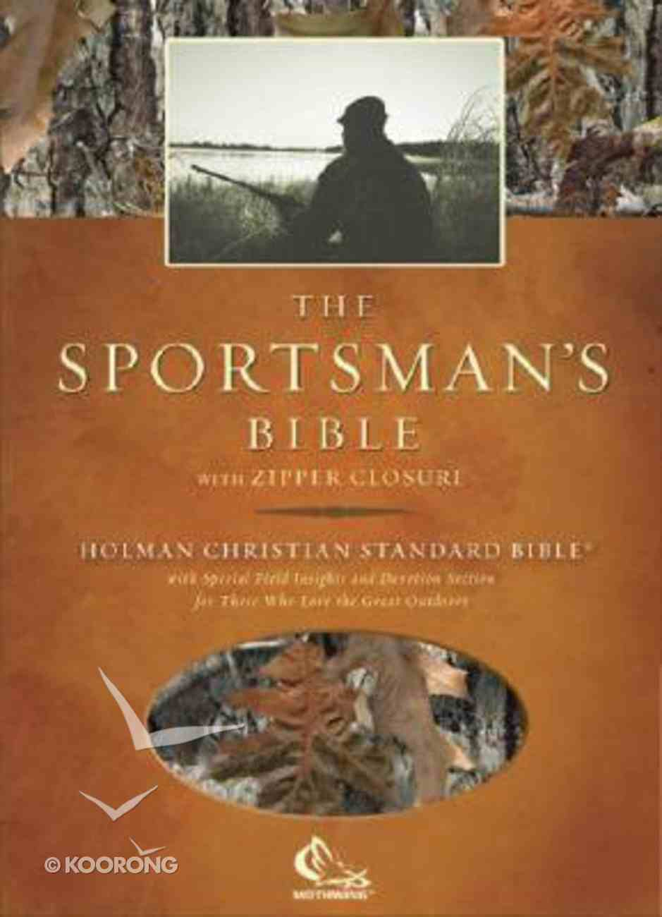 HCSB Sportsman's Bible Camouflage With Zip Bonded Leather