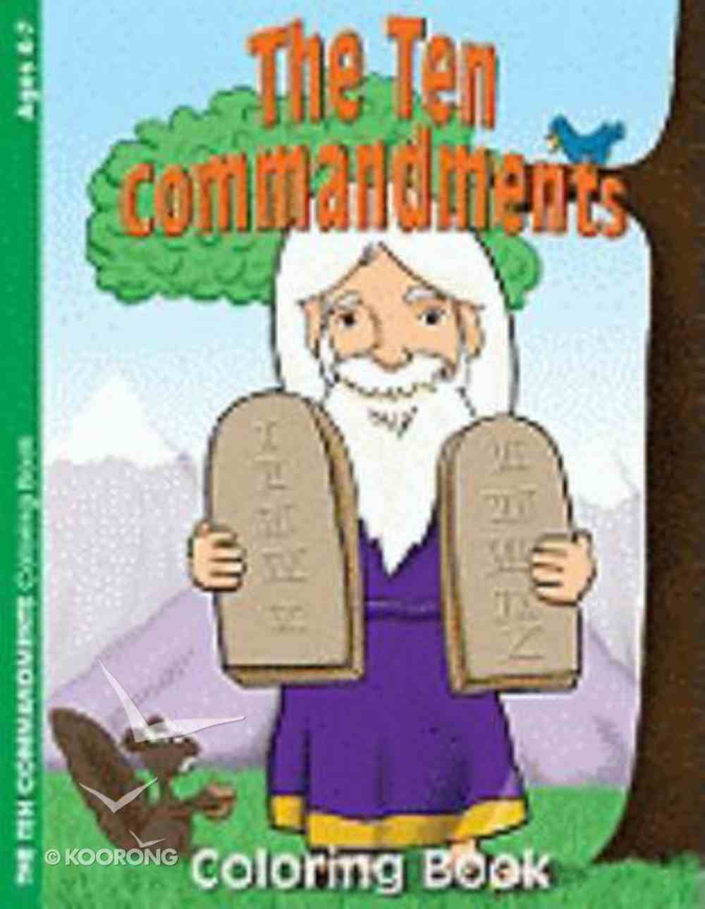 The Ten Commandments (Ages 4-7, Reproducible) (Warner Press Colouring & Activity Books Series) Paperback