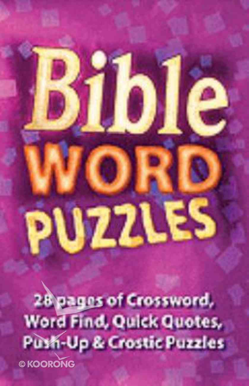 Bible Word Puzzles Paperback