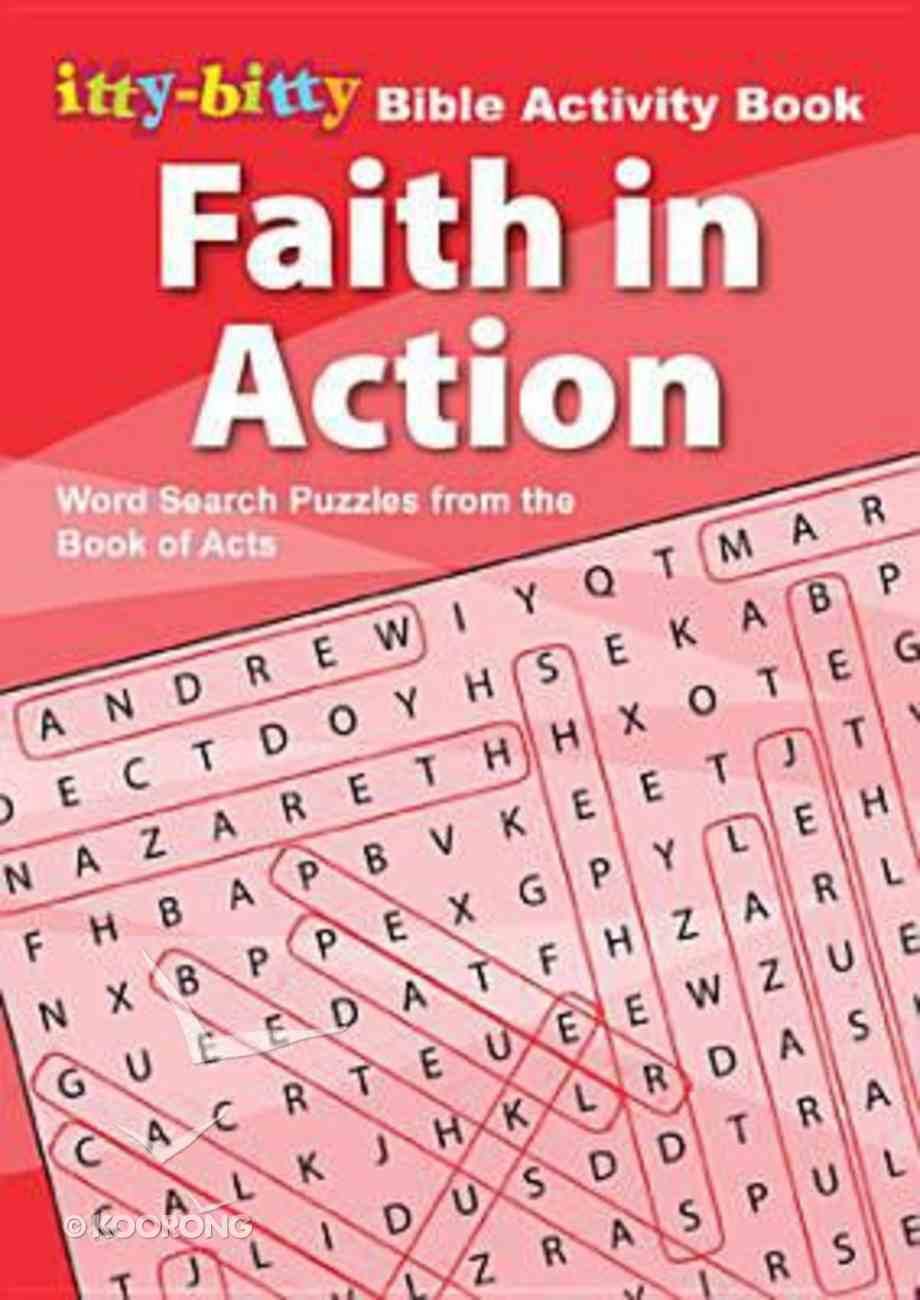 Activity Book Faith in Action Word Search (Itty Bitty Bible Series) Booklet
