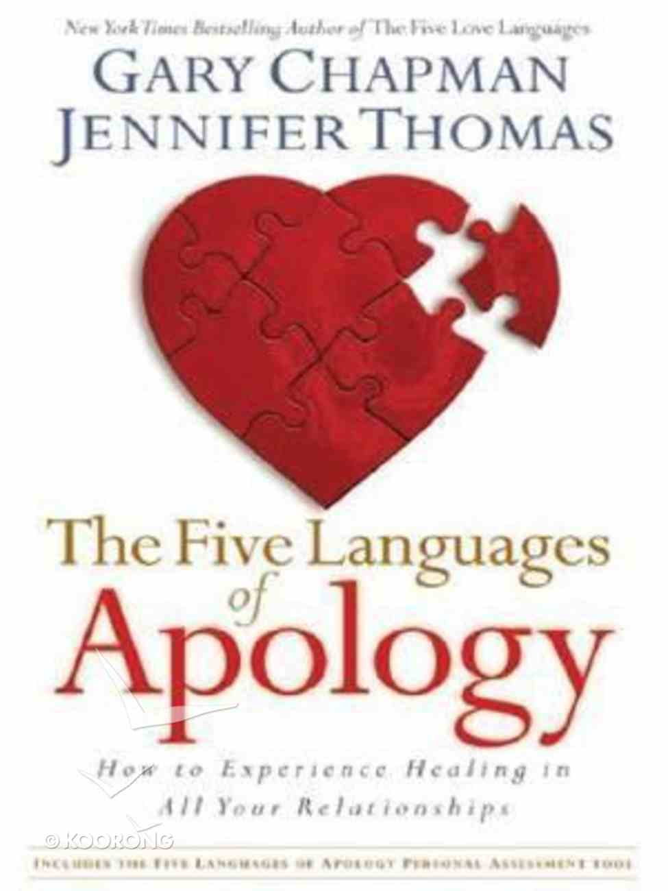 The Five Languages of Apology (Large Print) Paperback