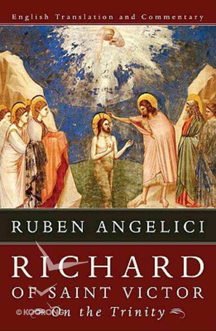 Richard of Saint Victor, on the Trinity Paperback