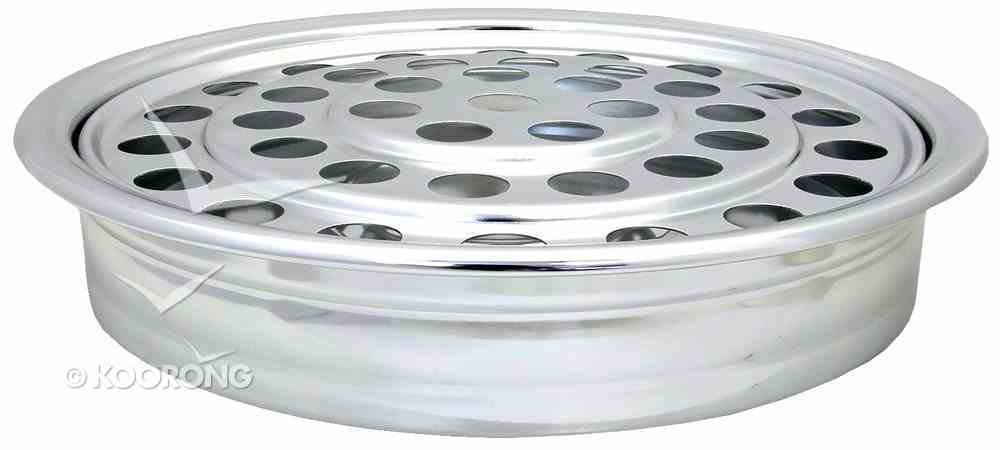 "Communion Tray: Silvertone (Rw-500a) (12"") Church Supplies"