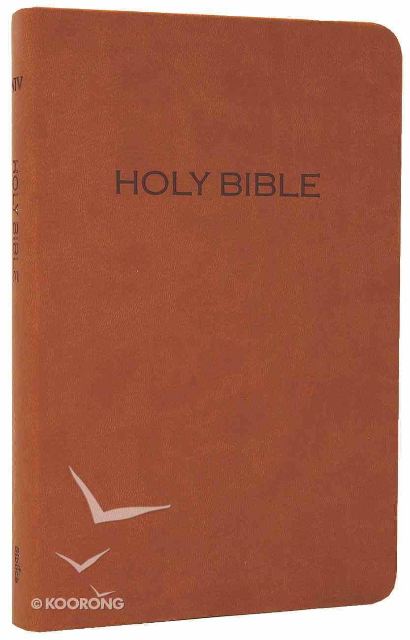 NIV Thinline Leatherlike Bible Tan Imitation Leather