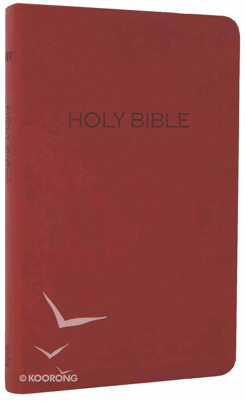 NIV Thinline Leatherlike Bible Cranberry Imitation Leather