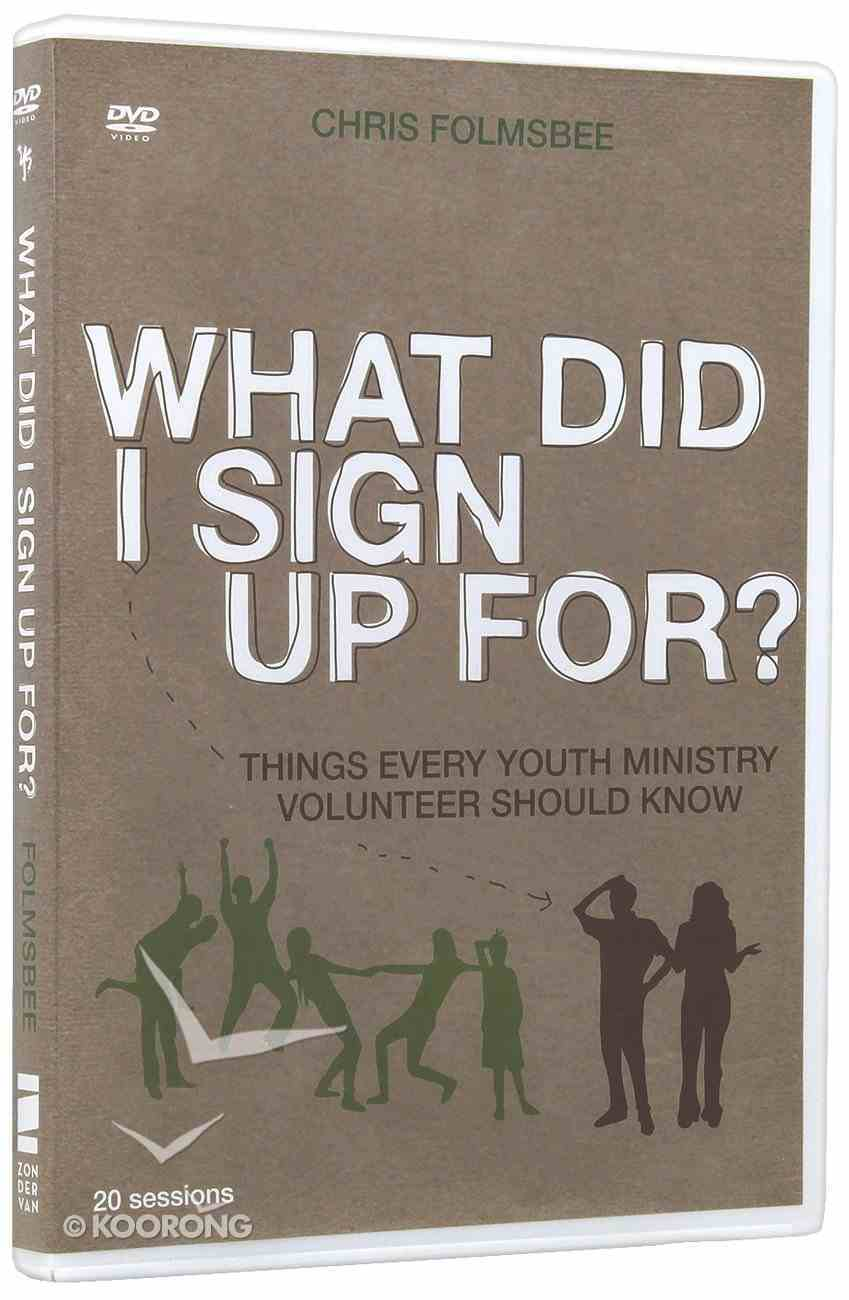 What Did I Sign Up For? (Dvd) DVD