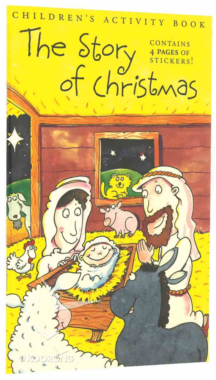 Sticker Activity Book: The Story of Christmas Paperback