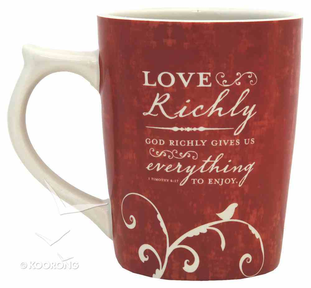 Christmas Mug: Love Came Down Collection, God Richly Gives Us Everything to Enjoy Homeware