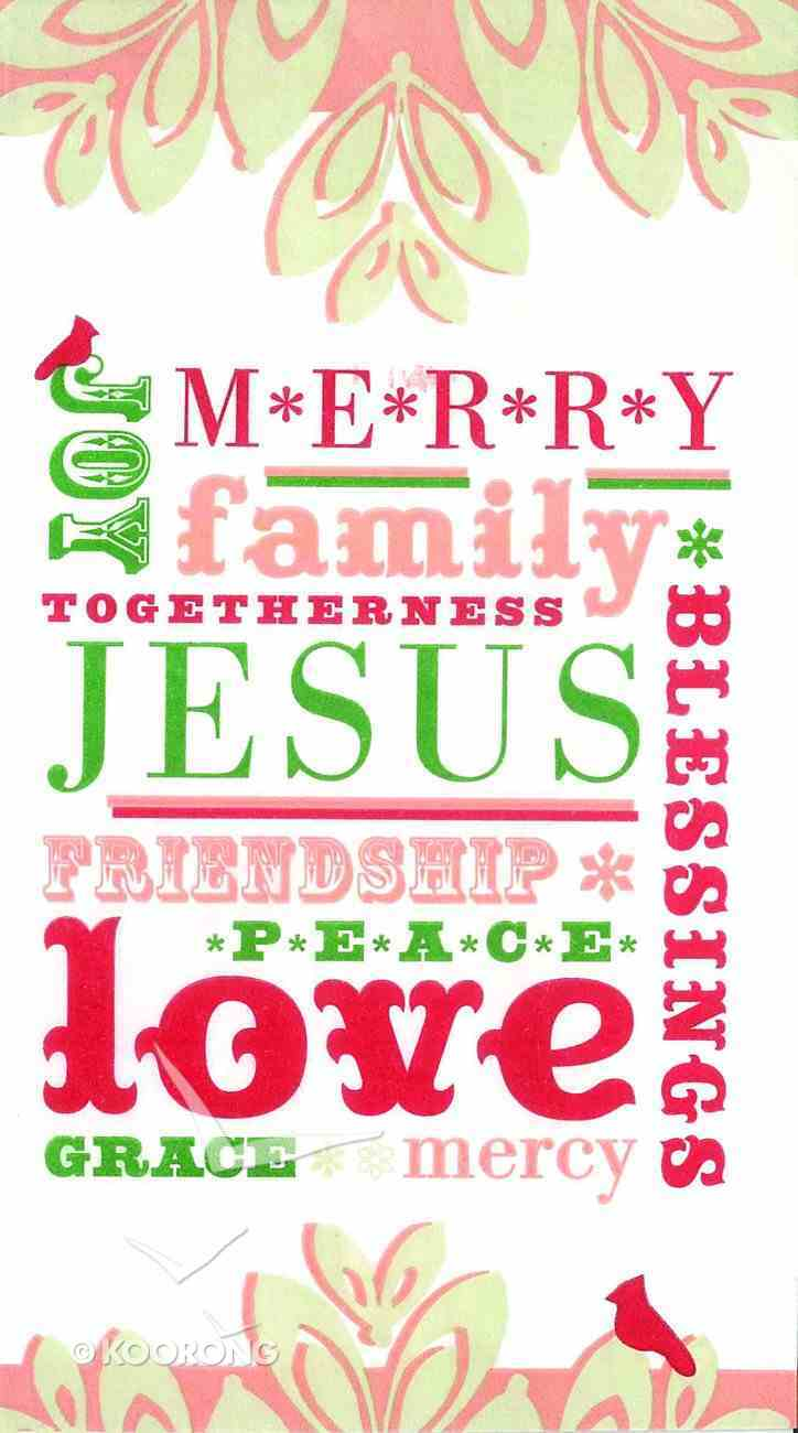 Christmas Banquet Napkins: Jesus, Merry, Joy, Family, Blessings General Gift