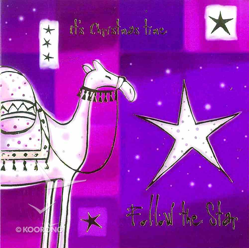 Christmas Packet of 5 Cards: It's Christmas Time Follow the Star Cards