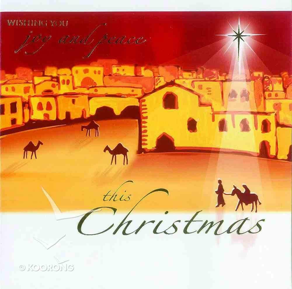 Christmas Boxed Cards: O Little Town, Wishing You Joy and Peace Box