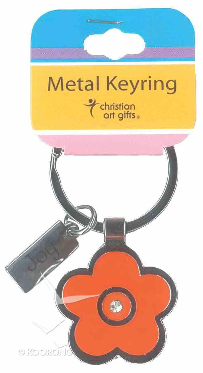 Metal Keyring: Orange Flower Jewellery