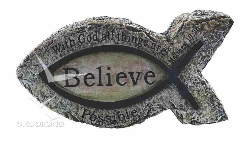Fish Ornament: Believe (Polyresin) Homeware