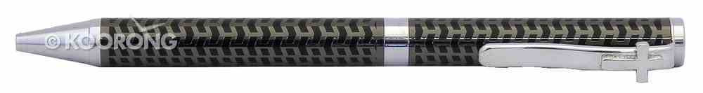 Quality Pen With Parker Refill: Black Arrow Pattern With Cross Clip Stationery