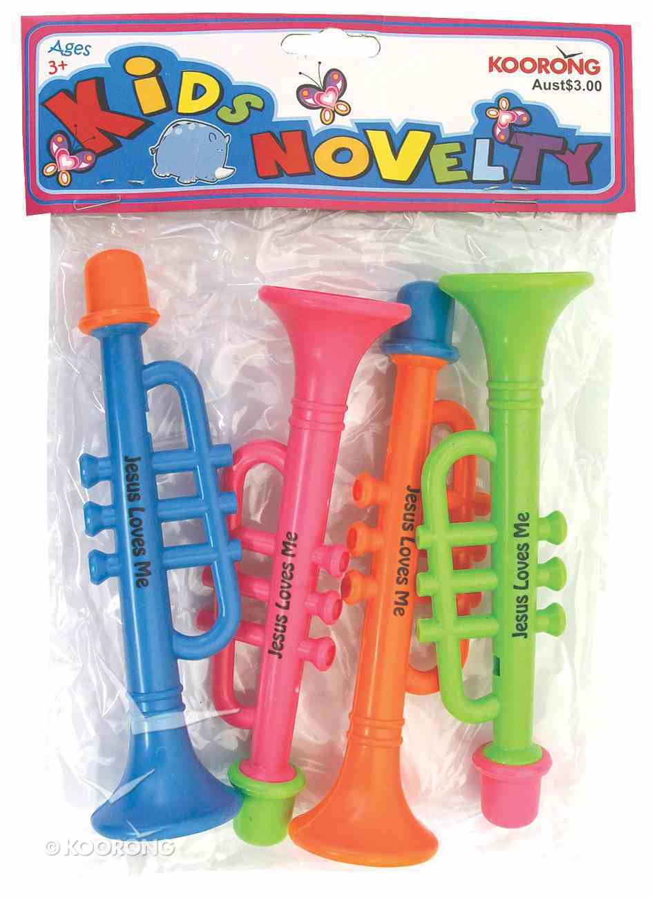 Trumpet Whistle: 4 Pieces Per Pack Novelty