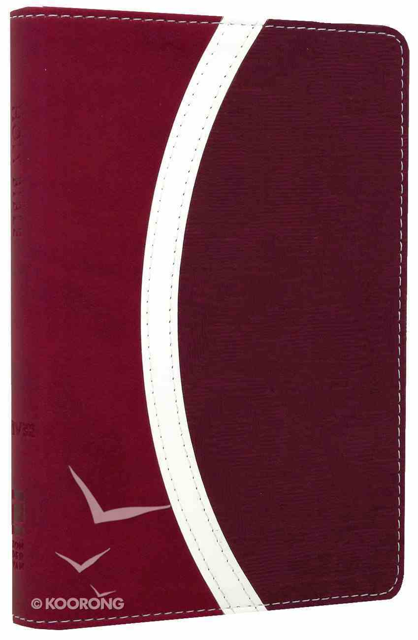 NIV Compact Thinline Bible Razzleberry/Plum Duo-Tone (Red Letter Edition) Imitation Leather