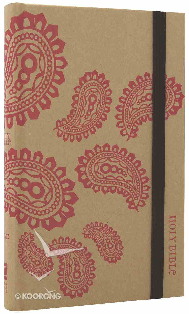 NIV Thinline Craft Bible Pink Paisley (Red Letter Edition) Hardback