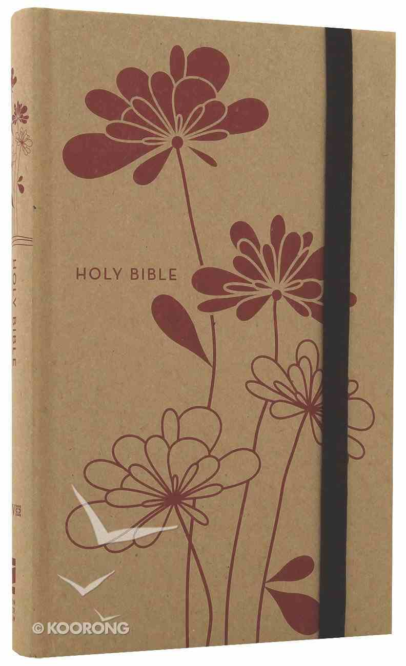 NIV Thinline Craft Bible Red Blossoms (Red Letter Edition) Hardback