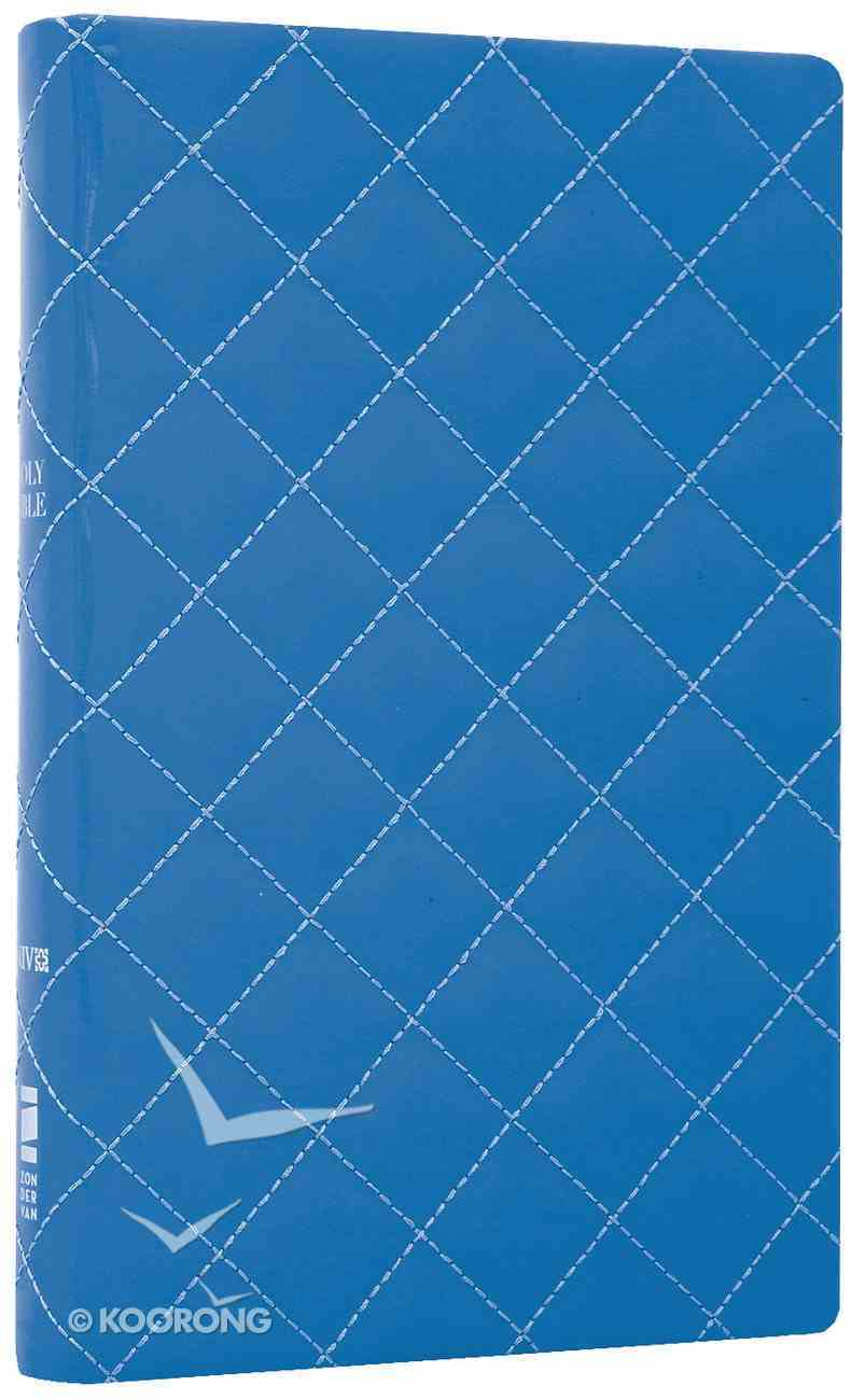 NIV Thinline Bible Quilted Blueberry Duo-Tone (Red Letter Edition) Imitation Leather