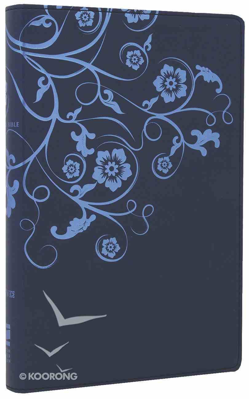 NIV Thinline Bible Flora and Fauna Flower/Vine Marina Blue (Red Letter Edition) Imitation Leather