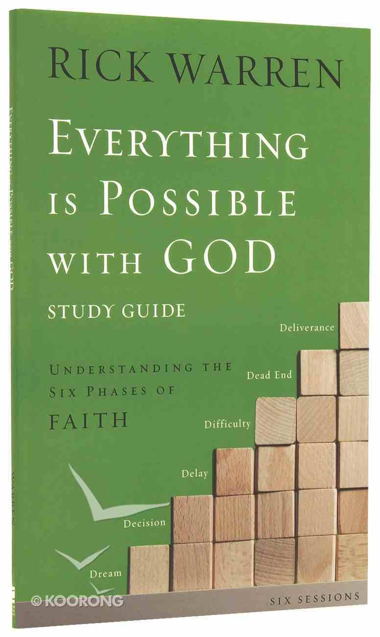 Everything is Possible With God (Study Guide) Paperback