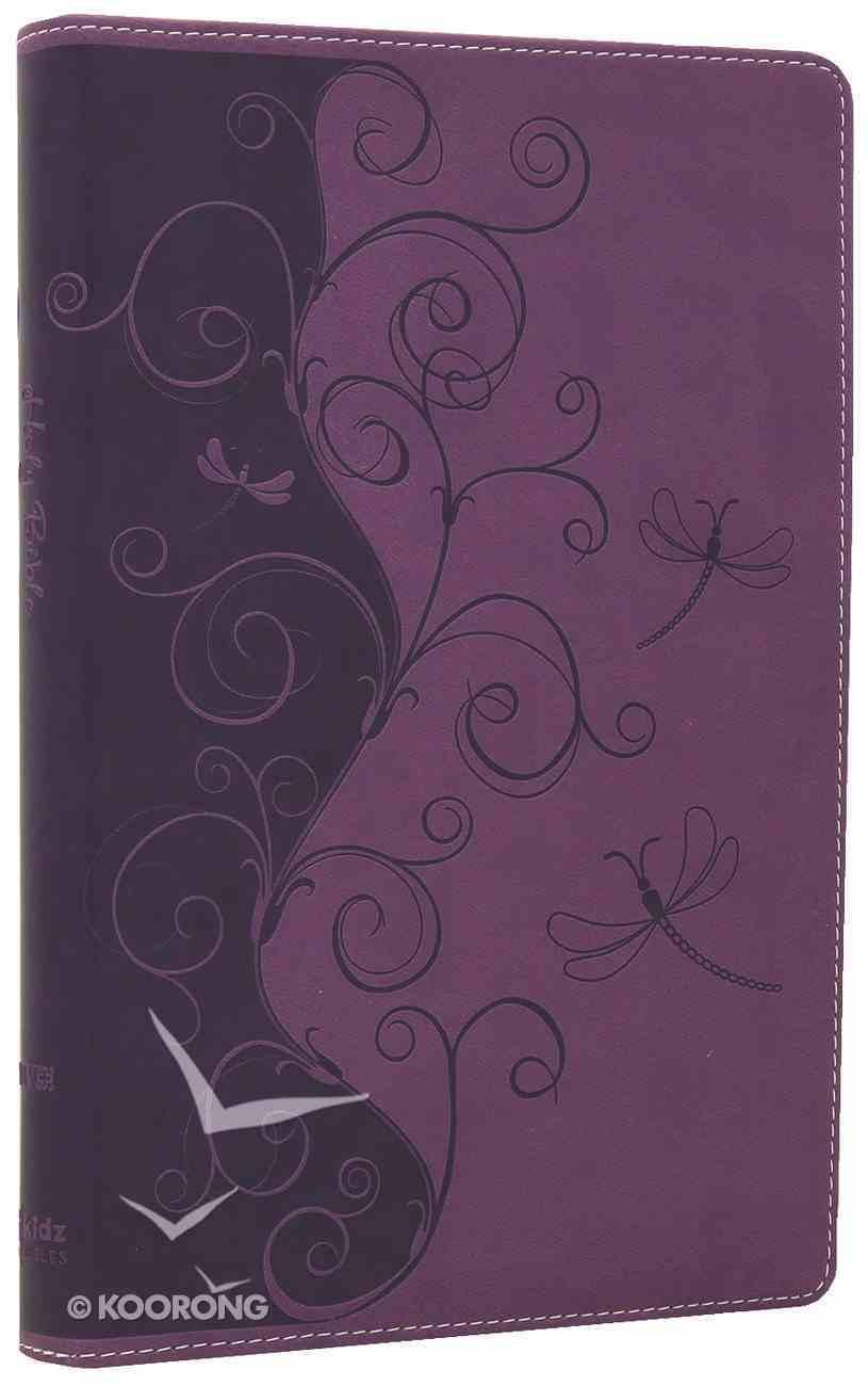 NIV Bible For Kids Violet Vines (Red Letter Edition) Imitation Leather