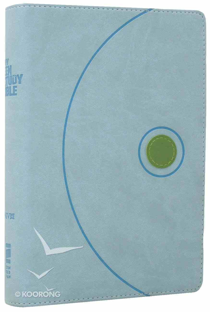 NIV Teen Study Bible Compact Mist Blue/Kiwi Duo-Tone Imitation Leather