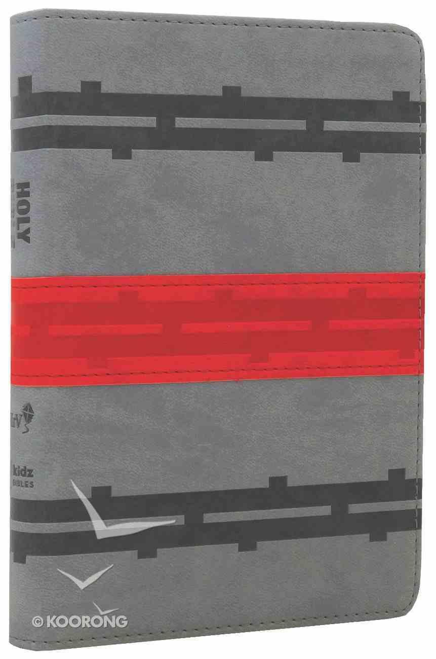 NIRV Backpack Bible Railway Grey Red Stripe Imitation Leather
