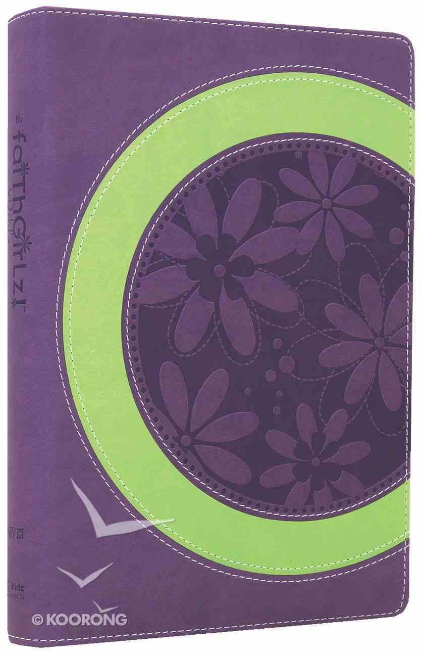 NIV Faithgirlz! Bible Revised Purple/Green (Black Letter Edition) Premium Imitation Leather