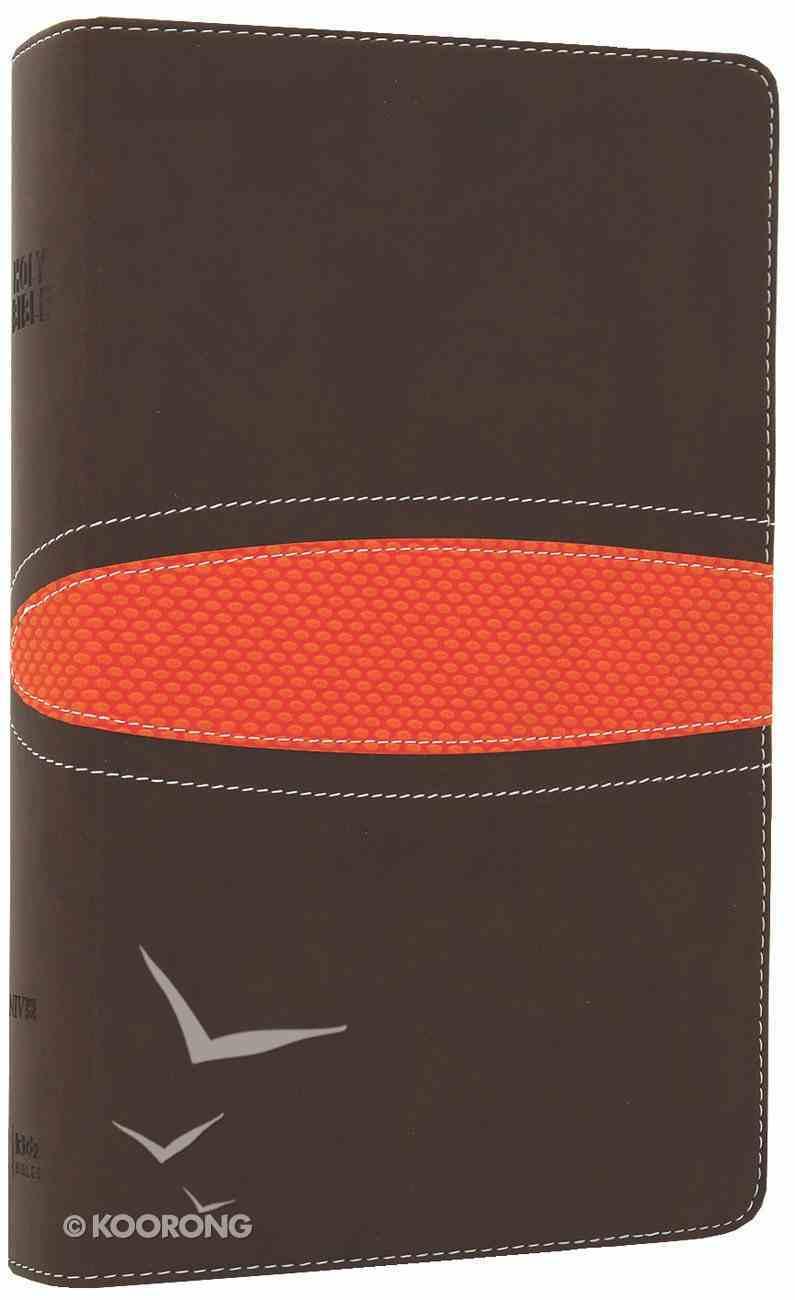 NIV Boys Bible Brown/Orange (Black Letter Edition) Premium Imitation Leather
