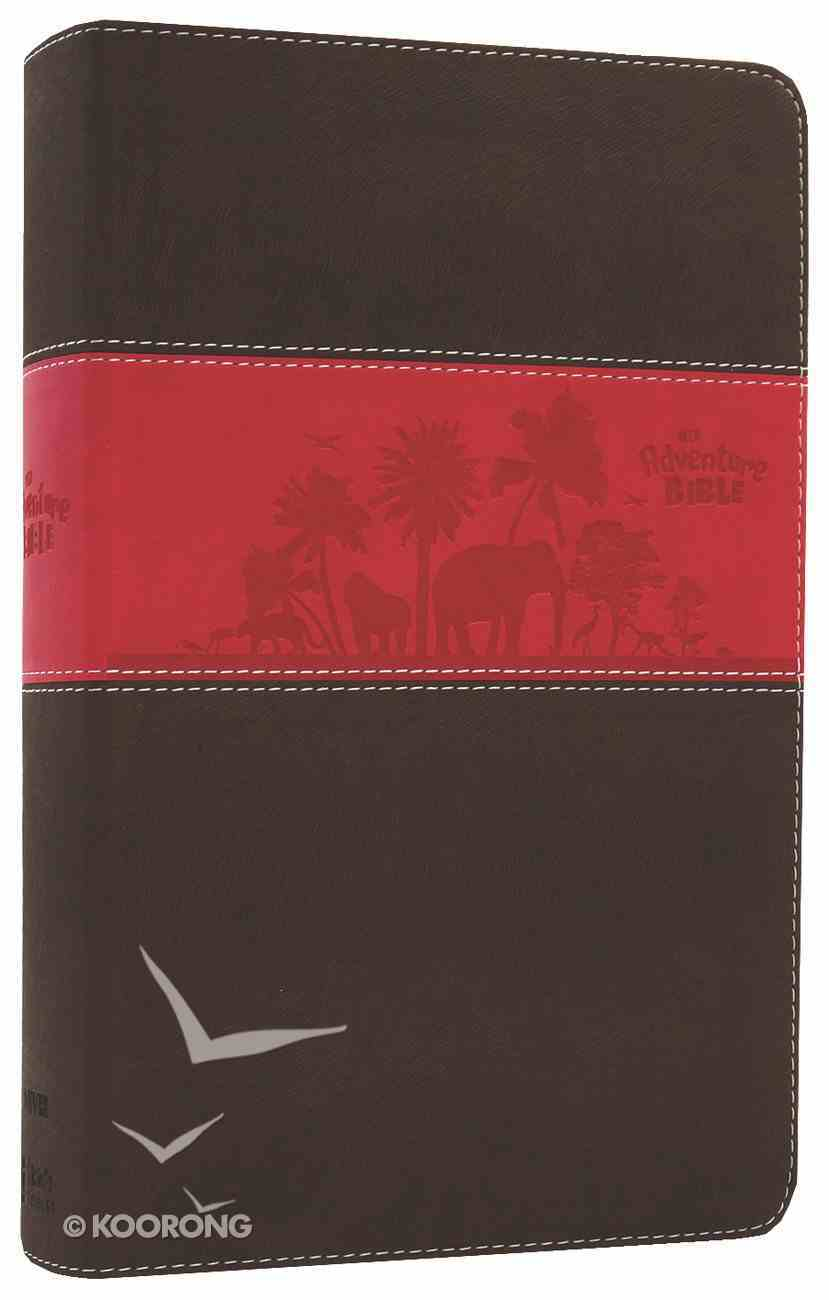 NIV Adventure Bible Chocolate/Hot Pink Duo-Tone Imitation Leather