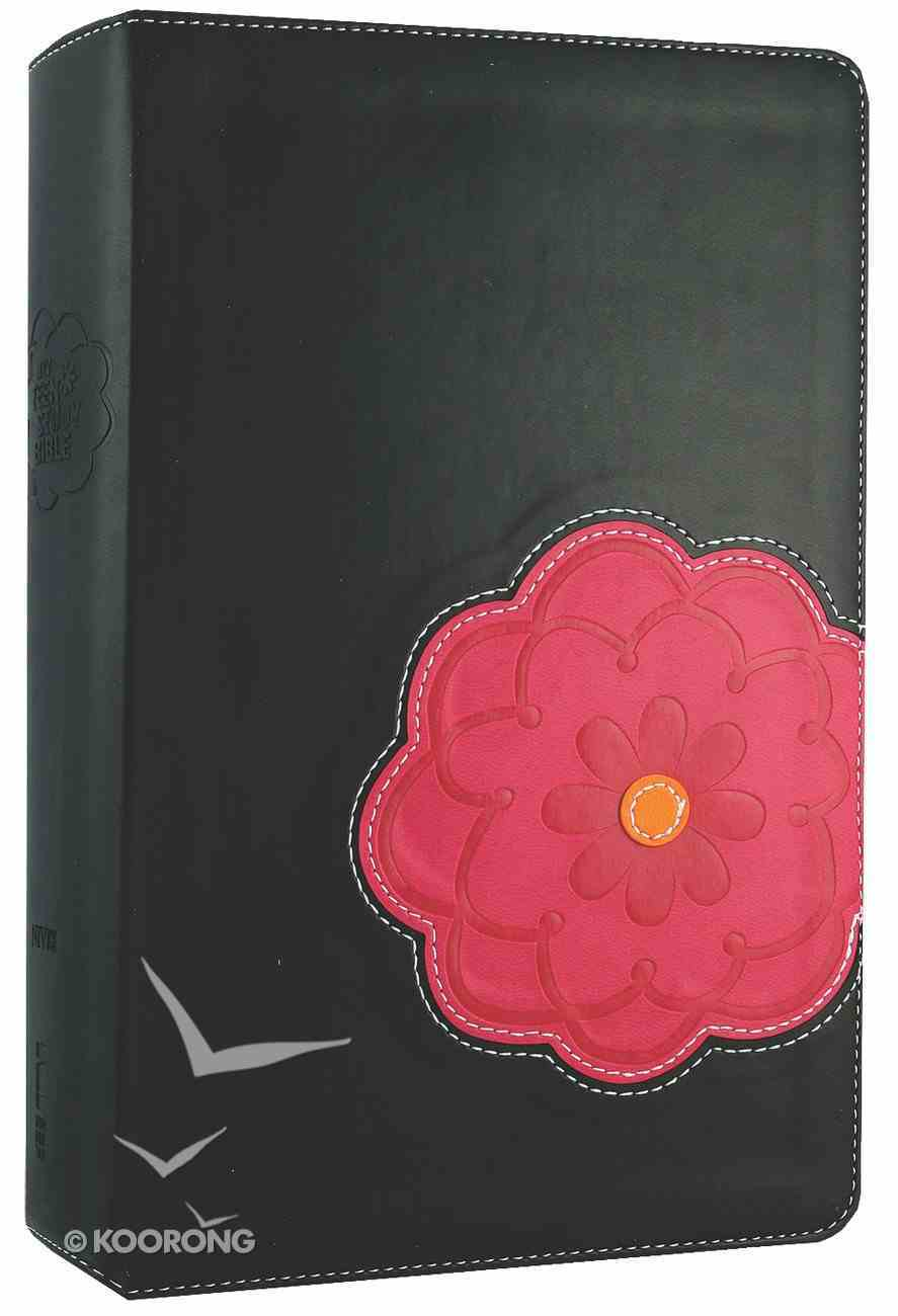 NIV Teen Study Bible Black Licorice/Hot Pink Flower Imitation Leather
