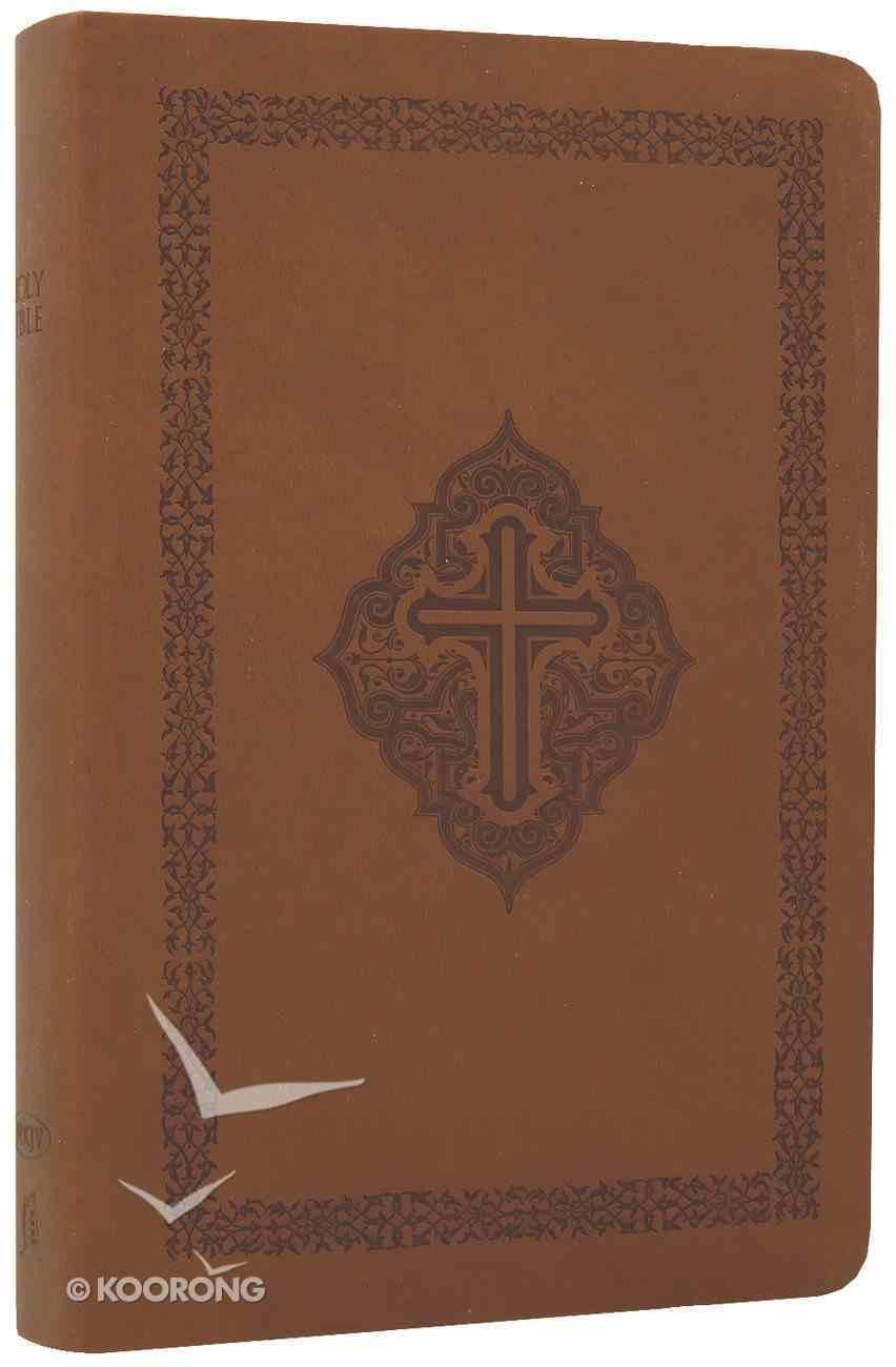 NKJV Gift Bible Leathersoft Brown Custom Edition Premium Imitation Leather