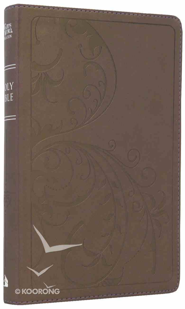 God's Word Thinline Purple Shimmer Vine Duravella Imitation Leather