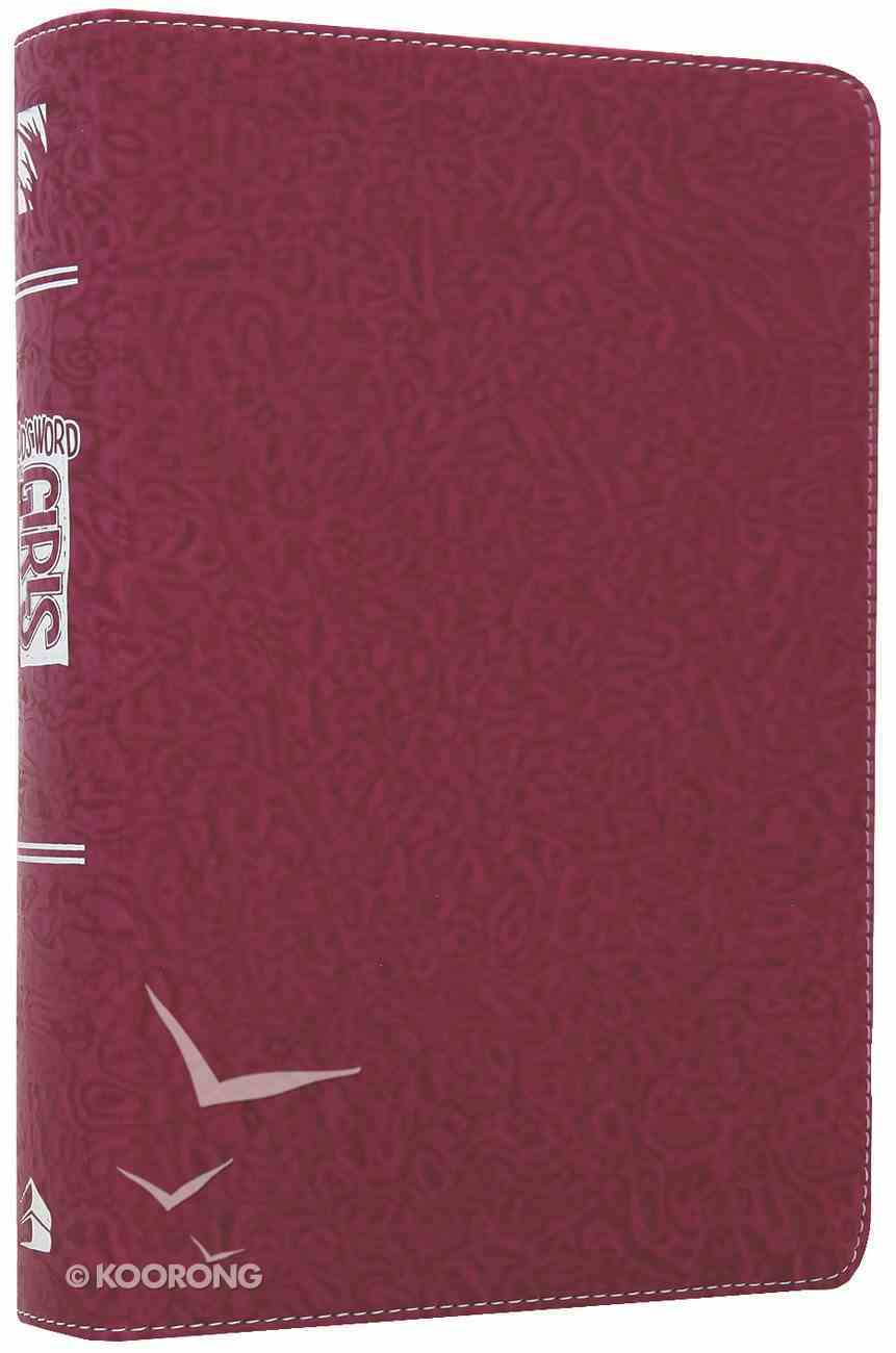 God's Word For Girls Raspberry Swirl Imitation Leather