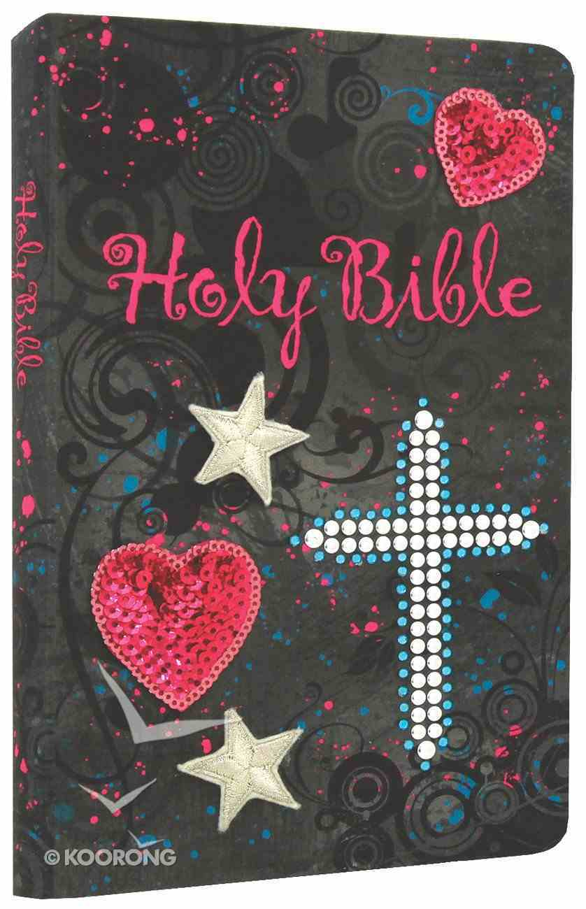 NKJV Sequin Bible Black (Red Letter Edition) Fabric