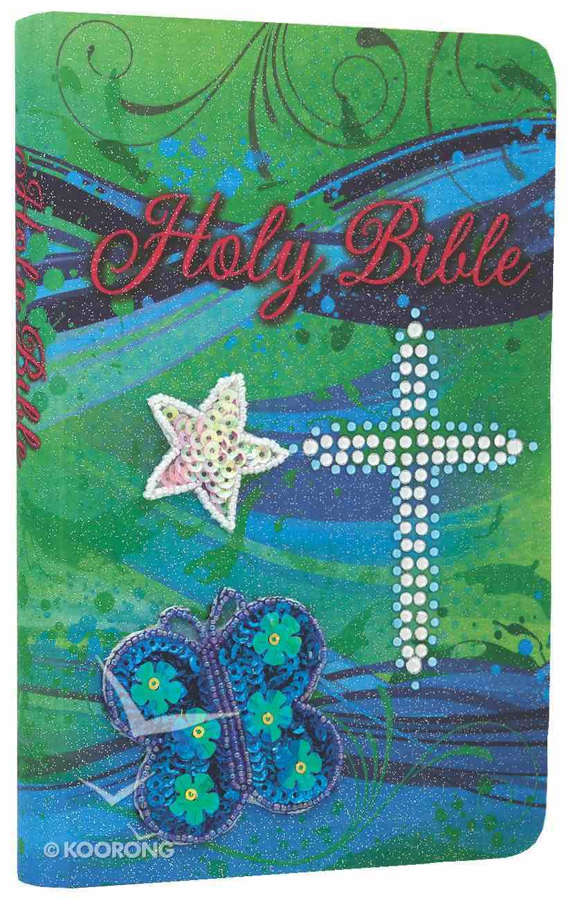 ICB Teal Sequin Bible (Black Letter Edition) Flexi Back