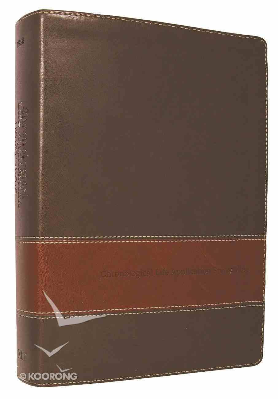 NLT Chronological Life Application Study Bible Brown/Tan (Black Letter Edition) Imitation Leather