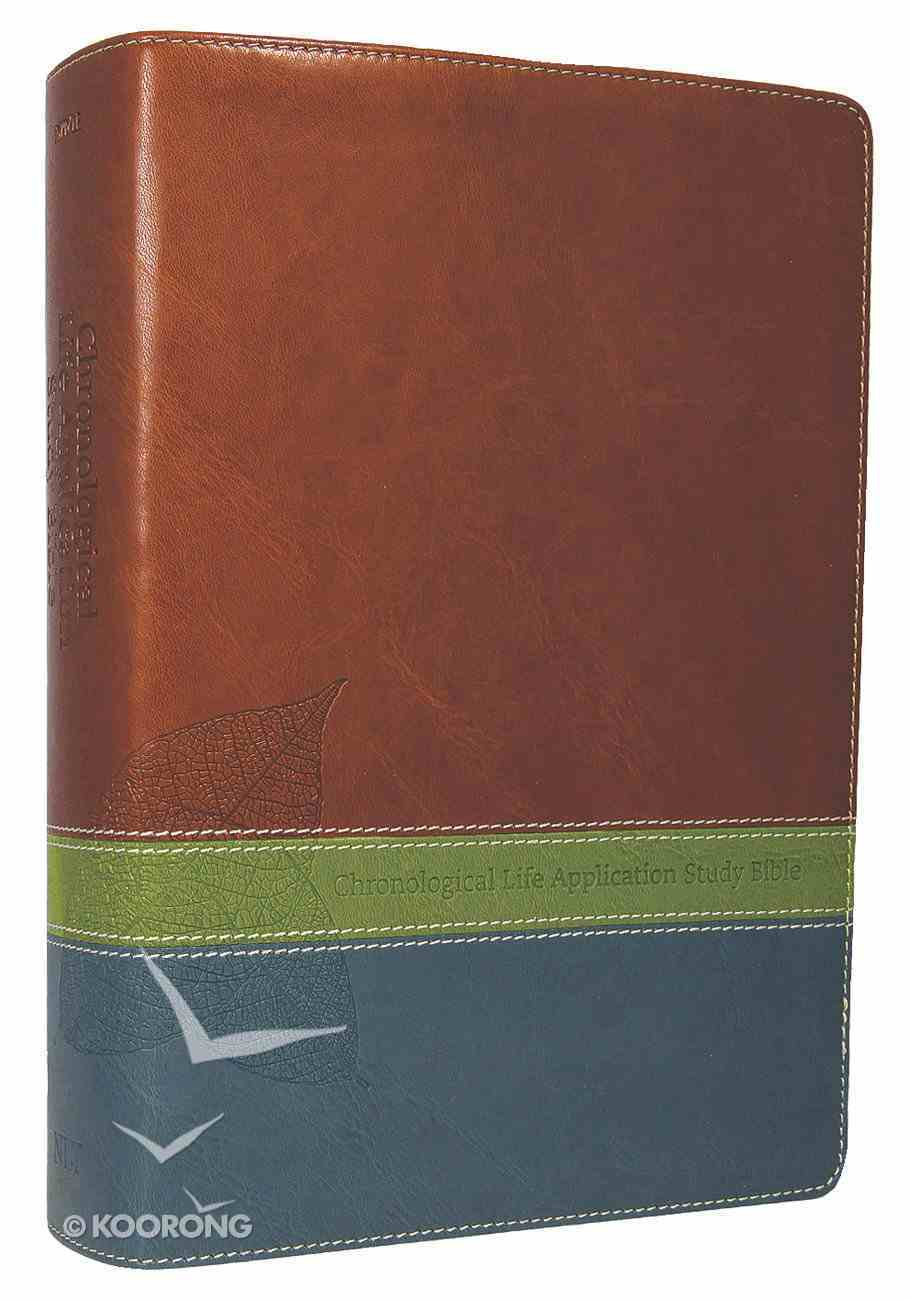 NLT Chronological Life Application Study Bible Brown/Green/Teal (Black Letter Edition) Imitation Leather