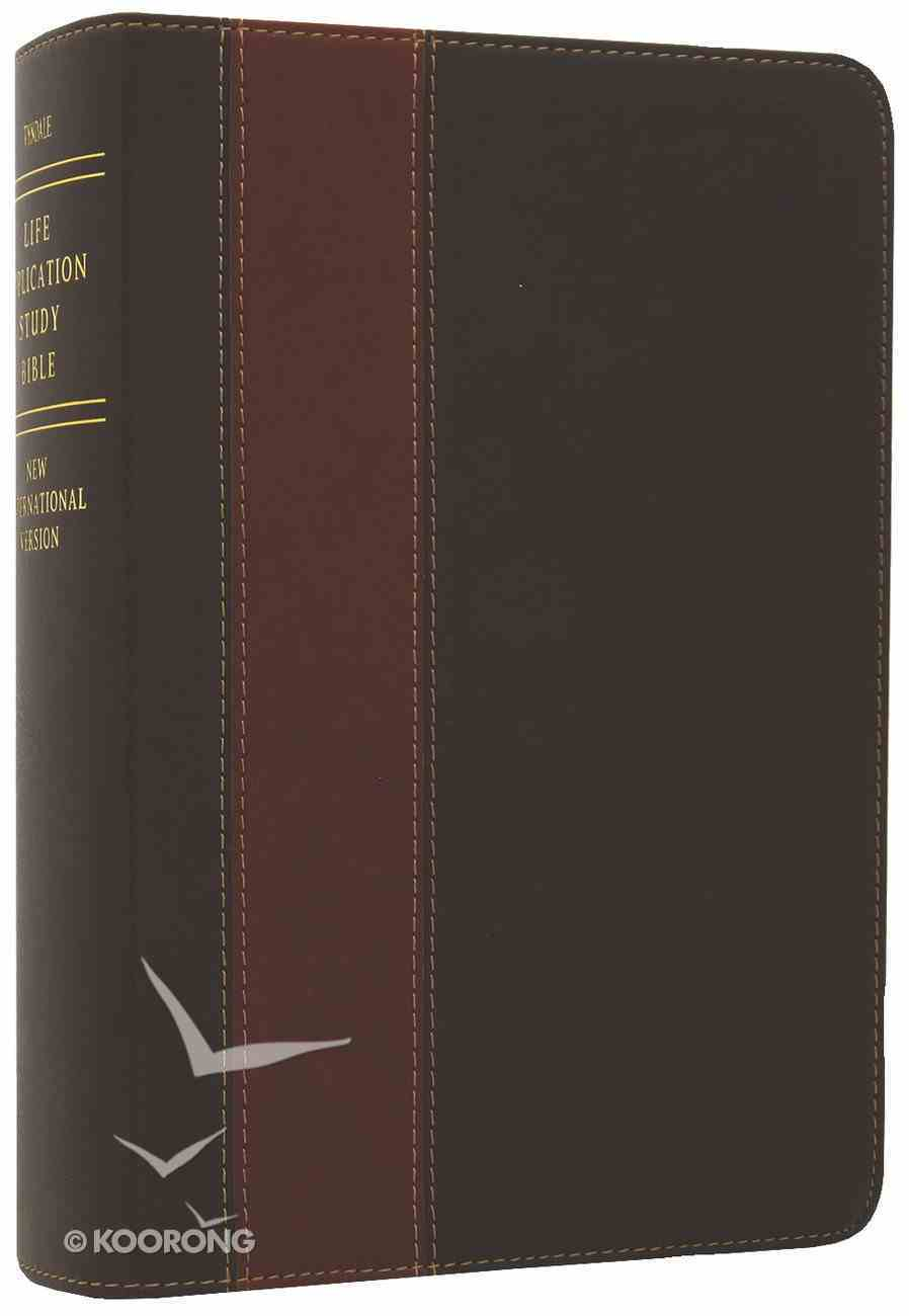 NIV Life Application Study Bible Personal Size Brown/Tan (Black Letter Edition) Imitation Leather