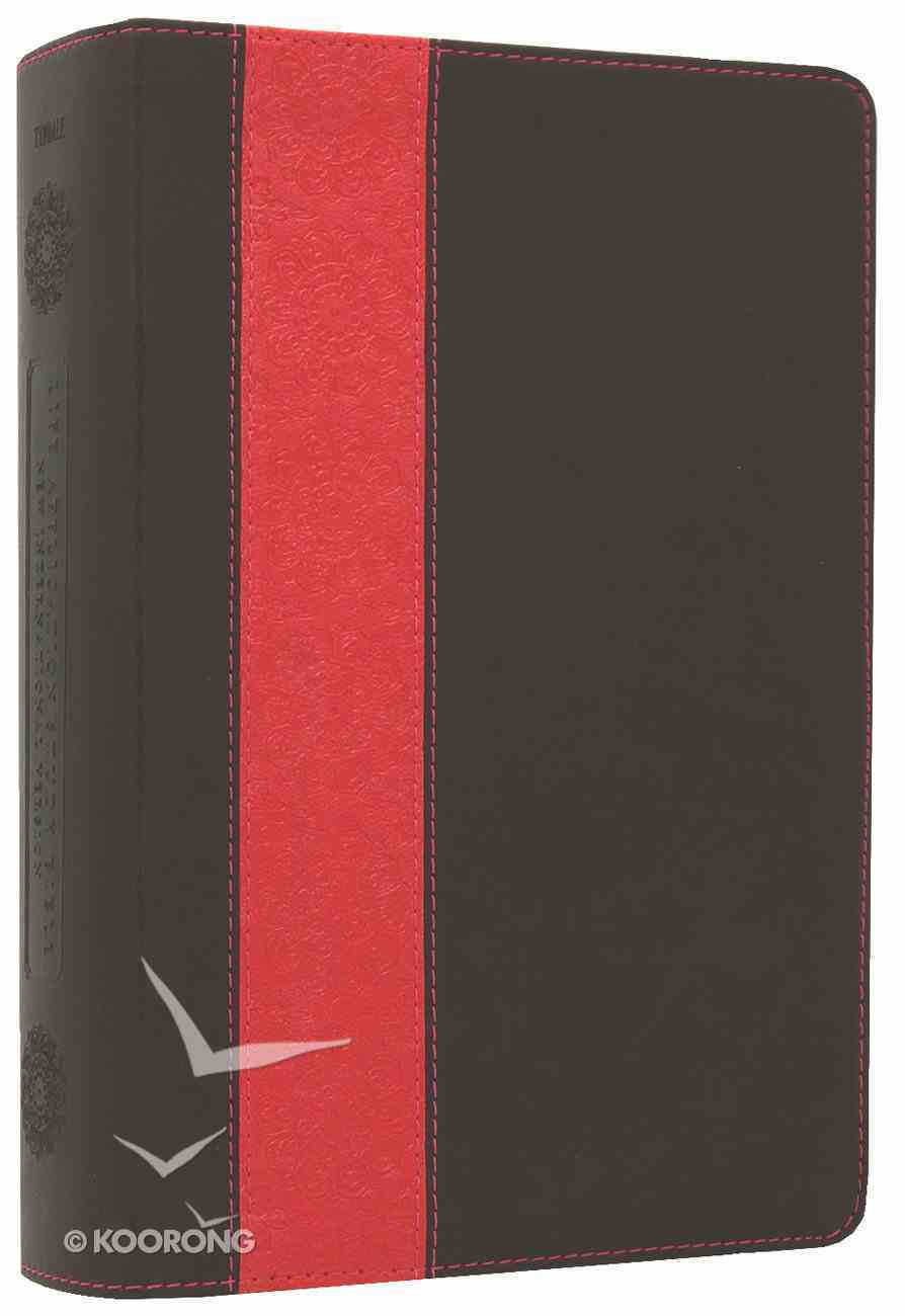 NIV Life Application Study Personal Size Dark Brown/Coral Imitation Leather