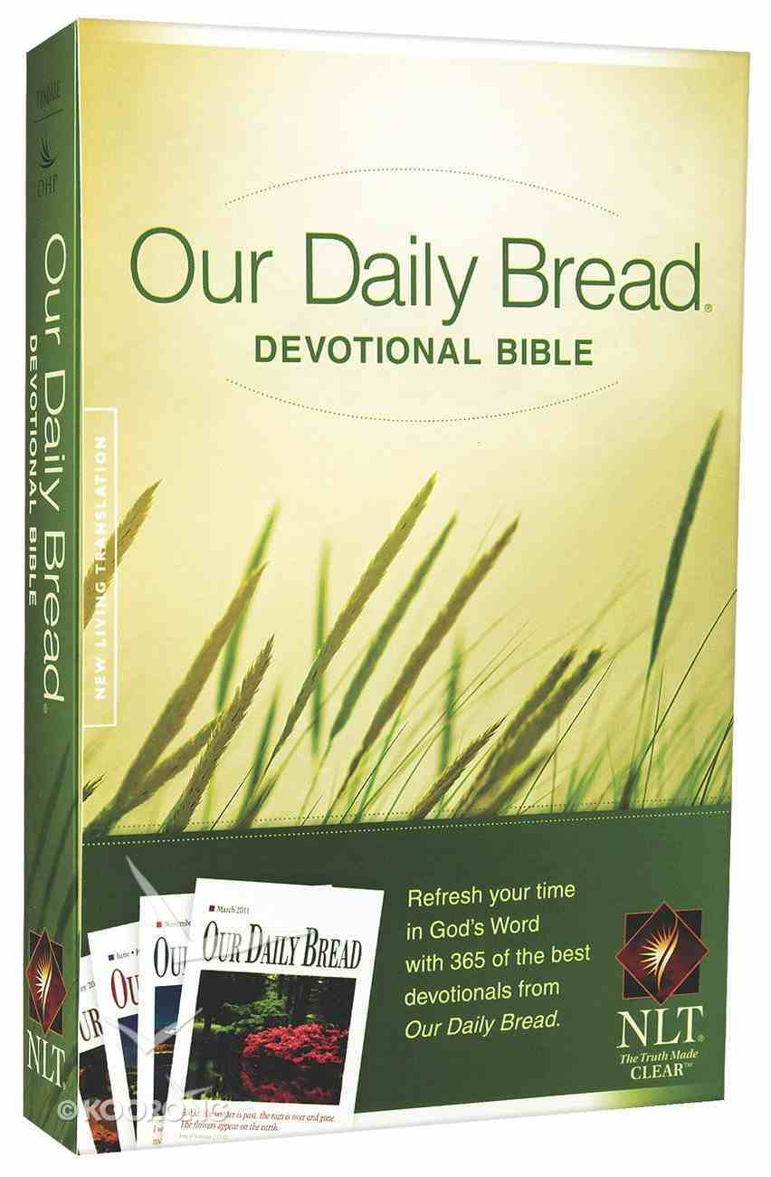 NLT Our Daily Bread Devotional Bible (Black Letter Edition) Paperback