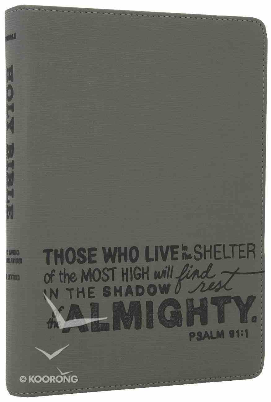 NLT Teen Slimline Bible Psalm 91 Charcoal (Red Letter Edition) Imitation Leather
