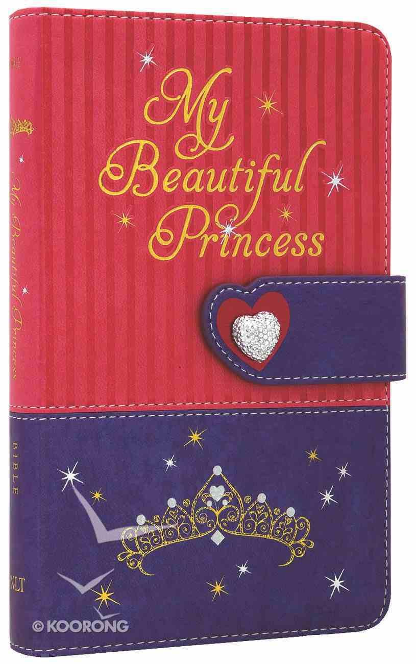 NLT My Beautiful Princess Bible Pink Purple Royalty (Black Letter Edition) Imitation Leather