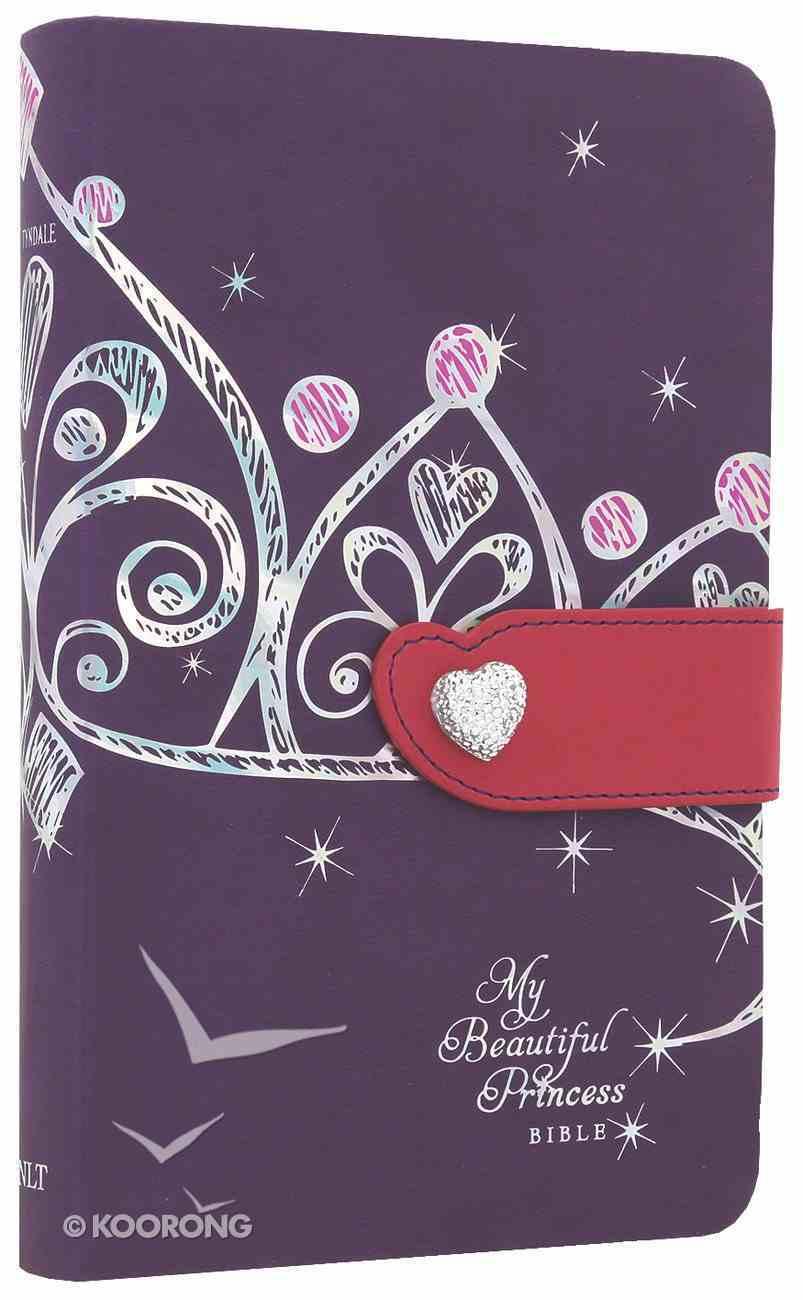 NLT My Beautiful Princess Bible Purple Crown Pink (Black Letter Edition) Imitation Leather