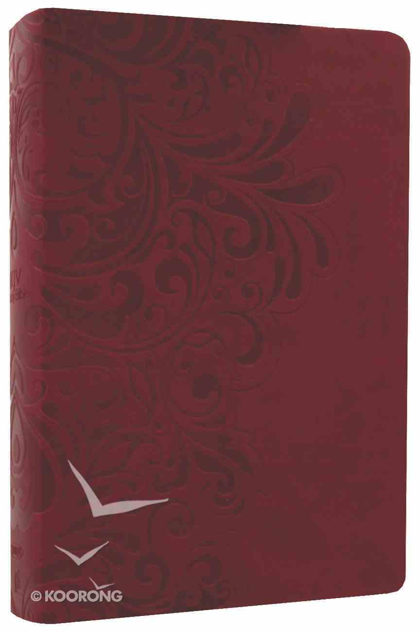 NKJV Study Bible Cranberry Leathersoft Premium Imitation Leather