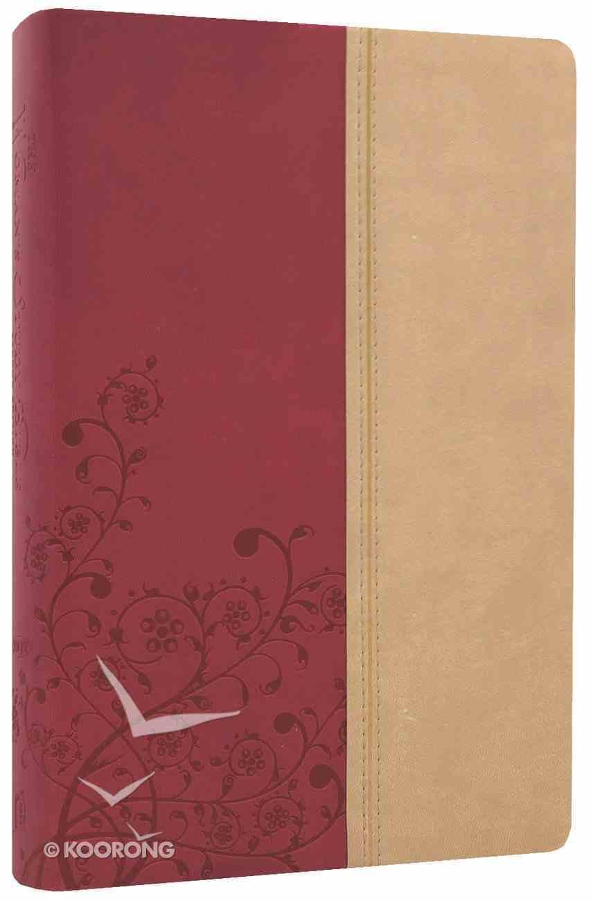NKJV Woman's Study Bible Light Cranberry Tuscany Indexed Imitation Leather