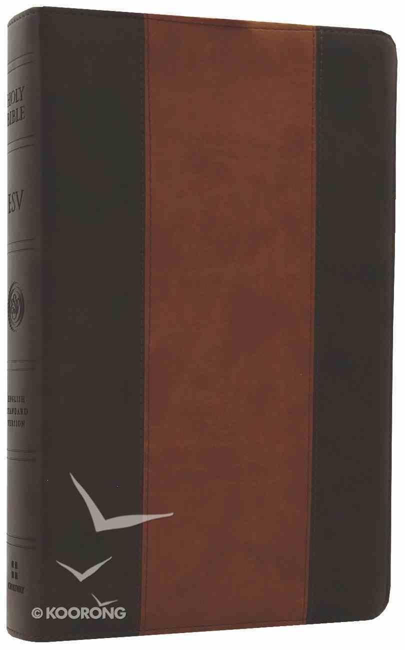 ESV New Classic Reference Bible Trutone Brown/Cordovan Stripe Design Imitation Leather